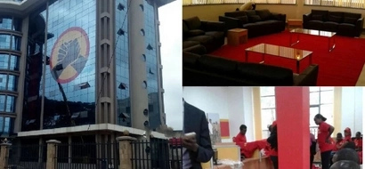Interior photos of the glamorous Uhuruto's campaign headquarters