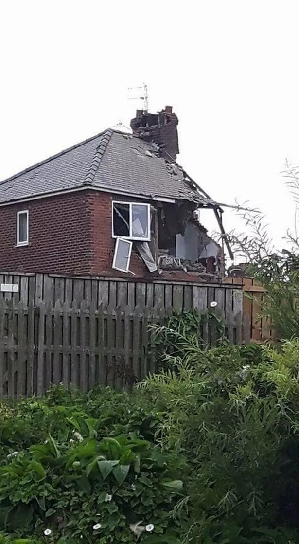 The explosion destroyed part of the house. Photo: Daily Mirror