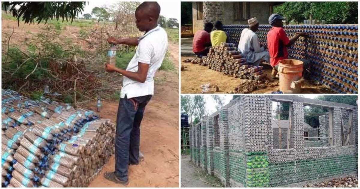 Too much creativity! See houses constructed with plastic bottles (photos)