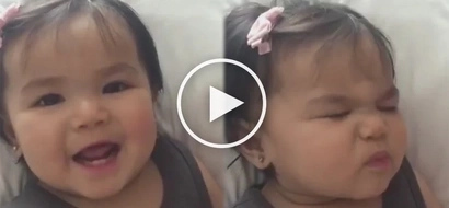 Jusko, sobrang cute! John Prats and Isabel Oli's baby girl performs the most charming 'beautiful eyes'