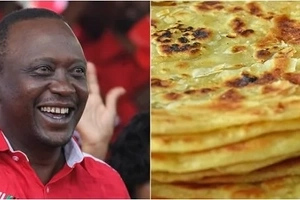 Meza mate! Uhuru Kenyatta shows off his ADMIRABLE chapati-making skills (photos)