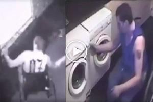 Lumpong kawatan: Daring man with disability caught on CCTV burglarizing home