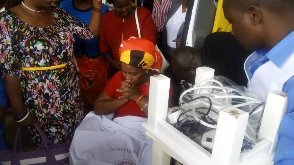 Tears as Rachel Shebesh arrives in an ambulance for crucial clearance (video)