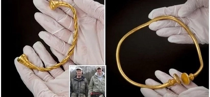 The moorlands are attractive for treasure hunters. Two hunters were lucky enough to discover ancient gold jewellery worth millions