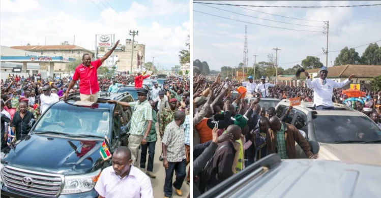 Lets teach Uhuru a good lesson- Raila asks supporters