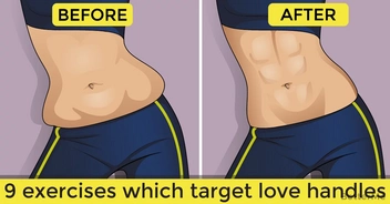 Top 9 moves which target love handles
