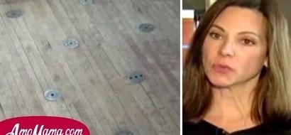 ¡Esta mujer descubrió extraños círculos de metal en el piso de la cocina y se dio cuenta de la espeluznante verdad sobre su casa!