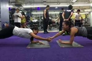Nadine Lustre shows how to do a fun yet painful workout with James Reid's sister