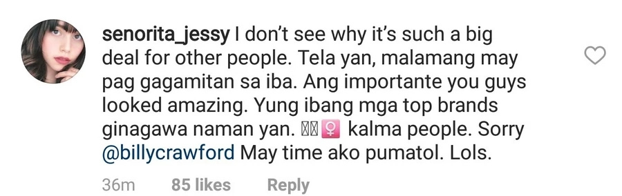 Jessy Mendiola gets bashed after commenting on controversial photoshoot of Billy Crawford & Coleen Garcia
