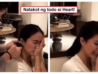 Takot na takot lang! Video of Heart Evangelista getting her ears pierced goes viral