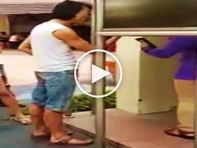 Arrogant man curses and threatens to hurt girl for taking too long at ATM