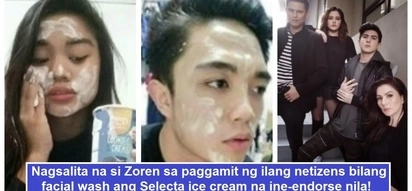 Anong bagong trip 'to? Netizens use ice cream brand endorsed by Legaspi family as facial wash