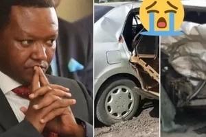 Machozi na uchungu huku gavana wa Machakos akitembelea familia ya mlinzi aliyeuawa katika ajali mbaya (picha)