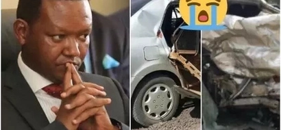 Machakos Governor Alfred Mutua visits the home of his wife's bodyguard killed in horror accident (photos)