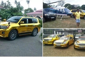 Golden cars! These photos of Mike Sonko's STUNNING cars will make you green with envy (photos)