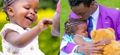 Gospel singer Bahati finally accepts his biological daughter (photos)