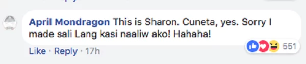 Sinagot ni 'April Mondragon' ang lahat! Sharon Cuneta joined FB thread using her private account and answered FAQs about her exes