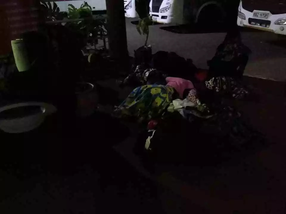 Agony of travelers sleeping on cold floors as NTSA night travel ban bites (photos)