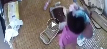 Diyos ko po! You will never want to leave your innocent babies unattended again after watching this video