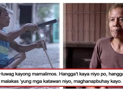 Saludo kami sayo 'tay! A Polio-stricken father of 4 children single-handedly provides for his family