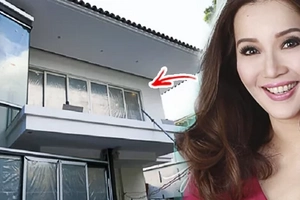 Tapos na rin, sa wakas! Kris Aquino is finally moving into her new Q.C. mansion! Her front door is just extraordinary!
