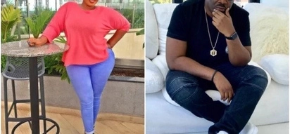 Voluptuous ex- radio girl openly drools over Nigerian producer