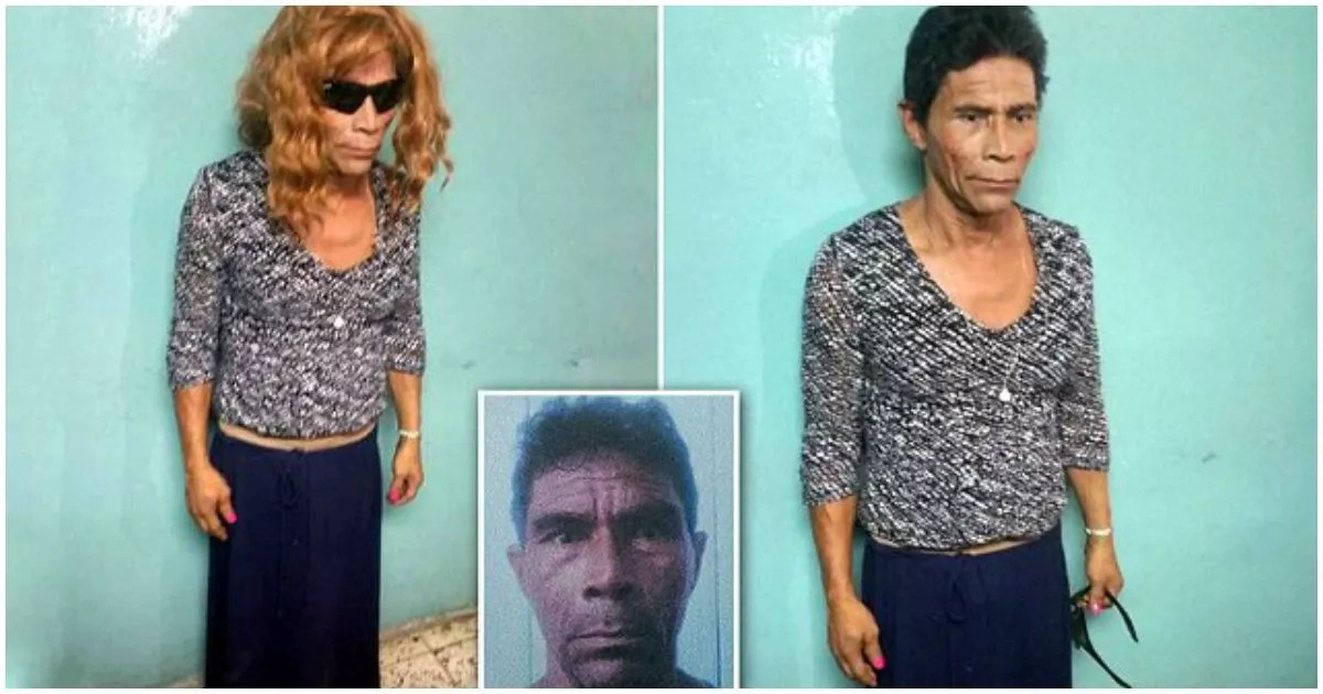 See how this 55-year-old man tries to escape prison disguised as a woman (photos)