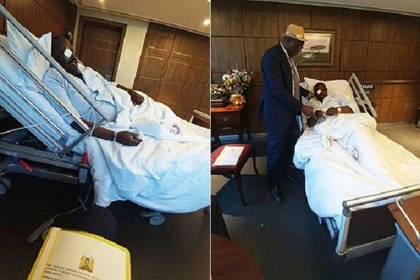 Raila visits Ruto after being injured in commotion