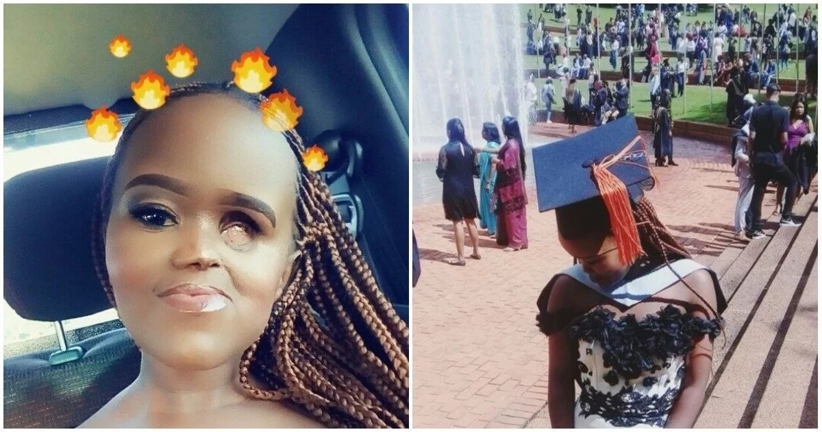 Meet brave lady who has overcome disability odds to graduate — despite being discouraged by her lecturer