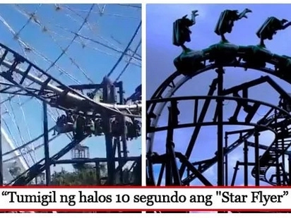 Tumirik ng halos 10 segundo! Star City ride malfunctions; affects 10 park goers