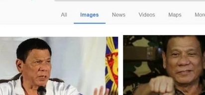 "Typing ""psychopath Philippines"" in Google Search shows Rodrigo Duterte's articles and images."