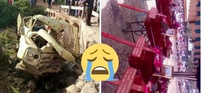 Majonzi tele huku wanafunzi wa shule ya msingi waliyofariki katika ajali ya barabarani wakizikwa