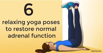 6 relaxing yoga poses to restore normal adrenal function