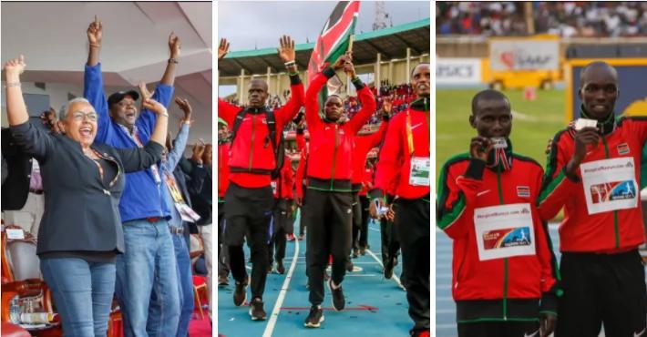 Mwanariadha Mkenya awazuzua Wakenya kwa jinsi alivyong'ang'a kuzungumza kizungu, Kasarani (Video)