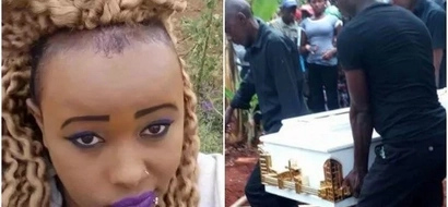 DRAMA at Nairobi's prettiest gangster's home hours after her burial