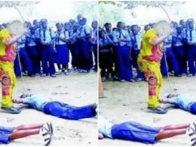 This video of teachers canning students to inches of their lives will definitely anger Matiang'i