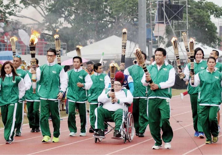 Palarong Pambansa torchlighter is PWD