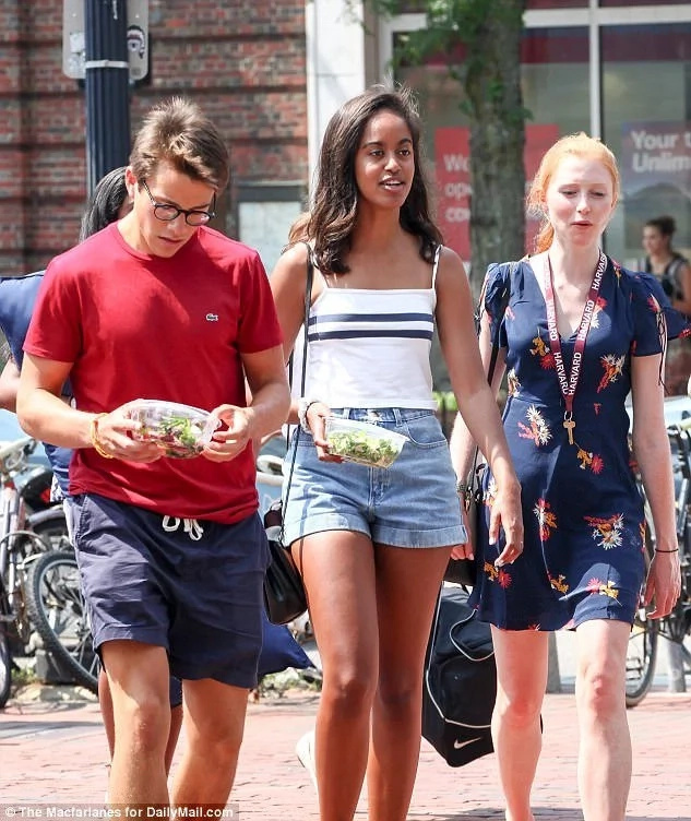 Malia has already settled in at Harvard and made friends. Photo: Daily Mail