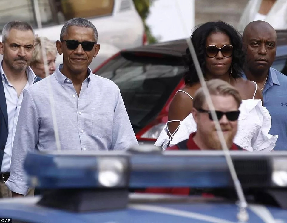 The Obamas are staying at the Borgo Finocchieto, a luxury villa with stunning scenic views