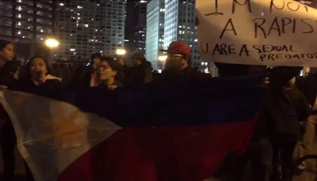 Pinoy Americans take to the streets to protest Trump's win