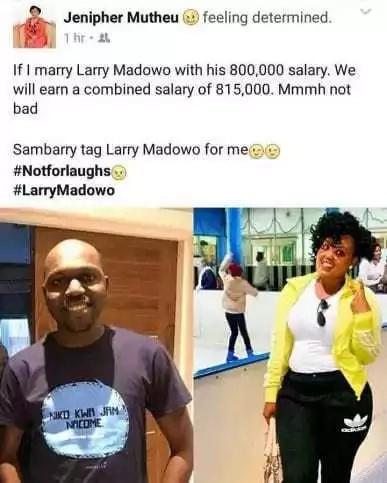 Mwanamke anayetaka kuolewa na Larry Madowo