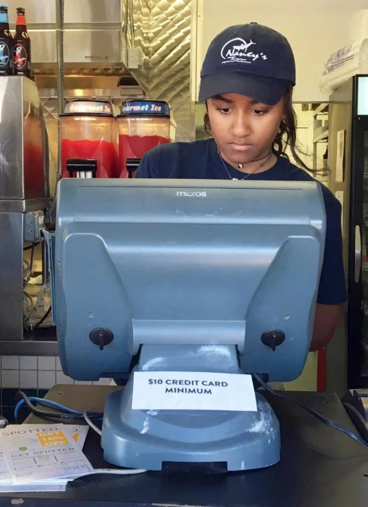 Why is President Obama's daughter working as a waitress?