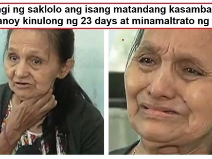 Wala raw awang kinulong at minaltrato! 65-year-old house helper allegedly abused and locked up for 23 days