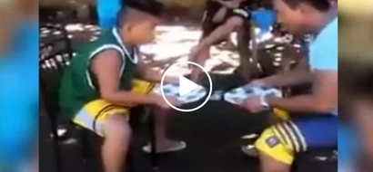 This kid was asked to copy the actions of his older partner...the ending will shock you!