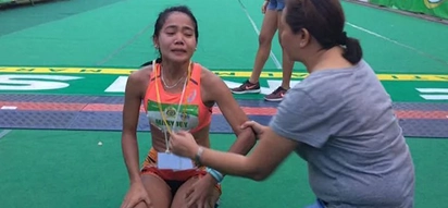 Young gold medalist wins race, cries at finish line for father who died the night before