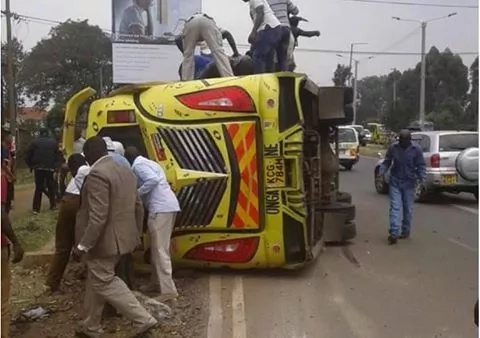 After the gory Rongai accident, this driver threatens to kill a Kenyan activist with a panga (pics)