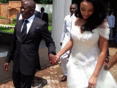 Meet the super cute lady who saw fire after marrying aging governor (photos)