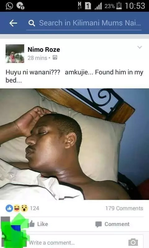 Nasty Kenyan woman posts the photo of a man who she had a one-night stand with