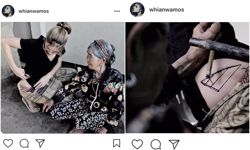 Rhian Ramos Gets Inked by Whang-Od