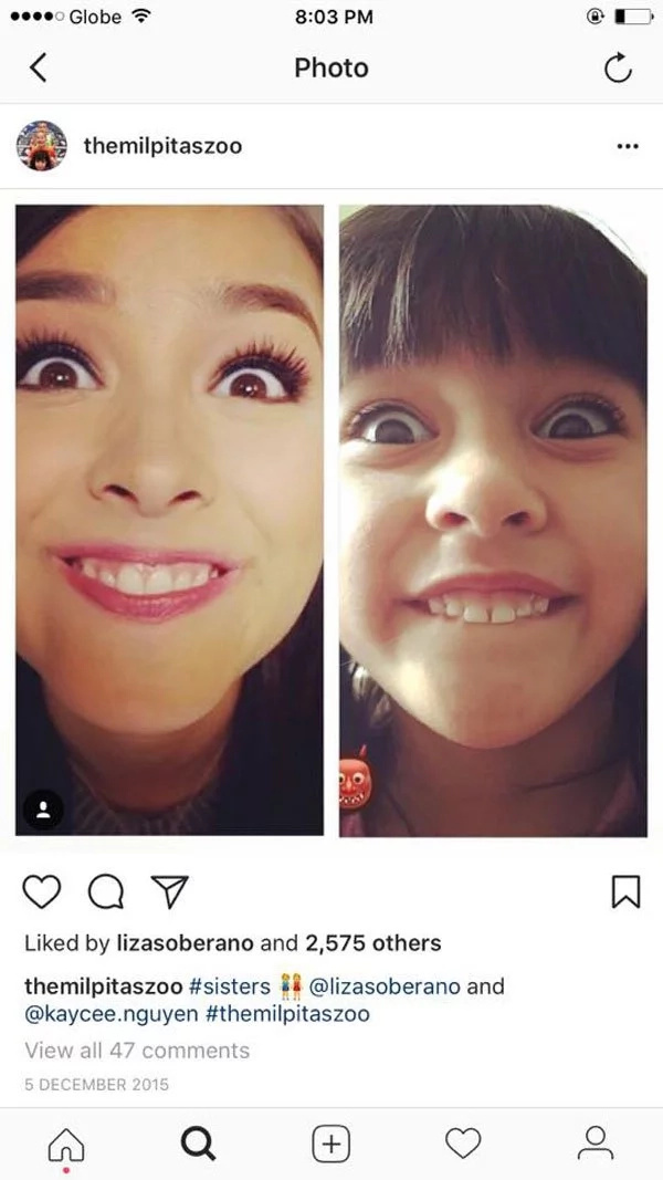 Liza Soberano's little sister looks so exactly like her